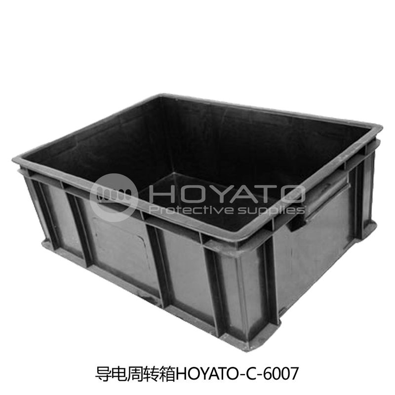 Non Toxic  ESD Consumables Durable Anti Static Conductive Turnover Box